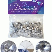 Bordsdiamanter 12mm transparent/silver