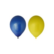 Ballonger 30cm 10p gula och blå