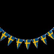 Vimpel 3,6m Svenska flaggan