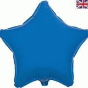 Folieballong 48cm Stjärna blå