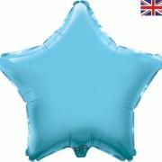 Folieballong 48cm Stjärna ljusblå