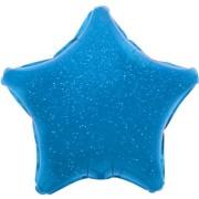 Folieballong 48cm Stjärna holografisk blå