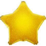 Folieballong 48cm Stjärna holografisk guld