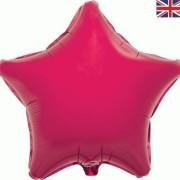 Folieballong 48cm Stjärna fuschia