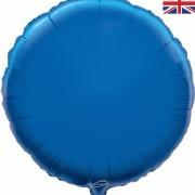 Folieballong 45cm rund blå