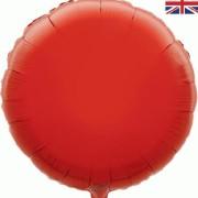 Folieballong 45cm rund röd