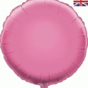 Folieballong 45cm rund ljusrosa