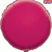 Folieballong 45cm rund fuschia