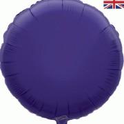 Folieballong 45cm rund lila