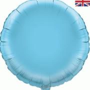 Folieballong 45cm rund ljusblå