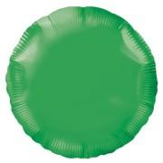 Folieballong 45cm rund grön