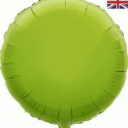 Folieballong 45cm rund lime