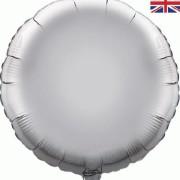 Folieballong 45cm rund silver