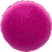 Folieballong 45cm rund holografisk rosa