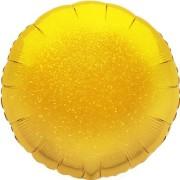 Folieballong 45cm rund holografisk guld