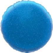 Folieballong 45cm rund holografisk blå
