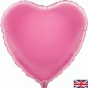 Folieballong 45cm Hjärta ljusrosa