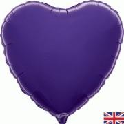 Folieballong 45cm Hjärta lila