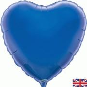 Folieballong 45cm Hjärta blå