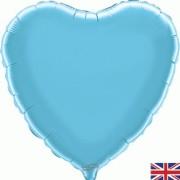 Folieballong 45cm Hjärta ljusblå