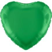 Folieballong 45cm Hjärta grön
