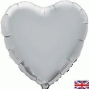 Folieballong 45cm Hjärta silver