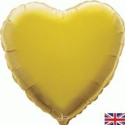 Folieballong 45cm Hjärta guld