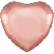 Folieballong 45cm Hjärta rosegold