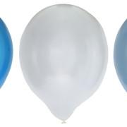 Ballonger 30cm 8p metallicmix blå