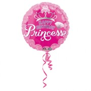 Folieballong 43cm Birthday princess
