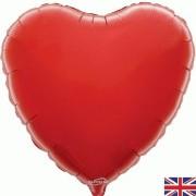 Folieballong 45cm Hjärta röd