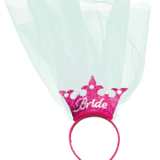 Diadem krona med slöja