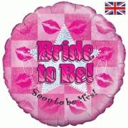 Folieballong 45cm Bride to be