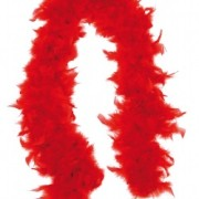 Fjäderboa Röd