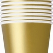 Pappersmuggar 266ml 14p gold