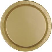Papperstallrikar 21,9 cm 8p gold