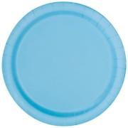 Papperstallrikar 22,9 cm 8p powder blue