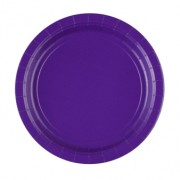 Papperstallrikar 22,8cm 8p purple
