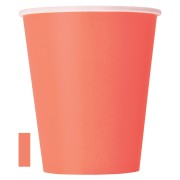 Pappersmuggar 270ml 14p coral