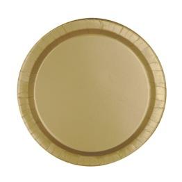 Pappersassietter 17,1cm 8p gold -