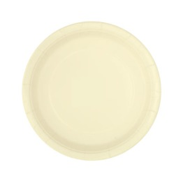 Pappersassietter 17,1cm 8p Ivory -