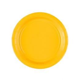 Pappersassietter 17,7 cm 8p sunshine yellow -