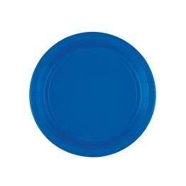 Pappersassietter 17,7 cm 8p bright royal blue -