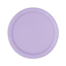 Pappersassietter 17,1cm 8p lavender -