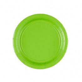 Pappersassietter 17,7 cm 8p kiwi green. -