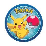 Pappersassietter 17,8cm 8p Pokemon