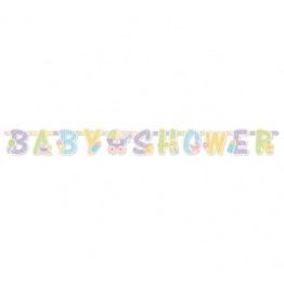 Babyshower banner 2,1m Pastell -