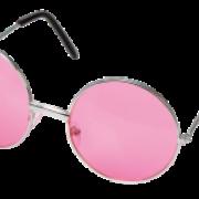 Glasögon runda rosa