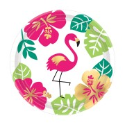 Pappersassietter 18cm 8p Flamingo