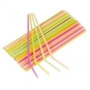 Sugrör av plast Neonmix 40p